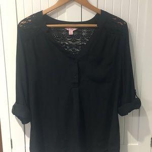 Candies black chiffon blouse